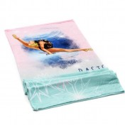 Fleece blanket: QUEEN OF THE ICE with ball and clubs (150 cm x 200 cm)